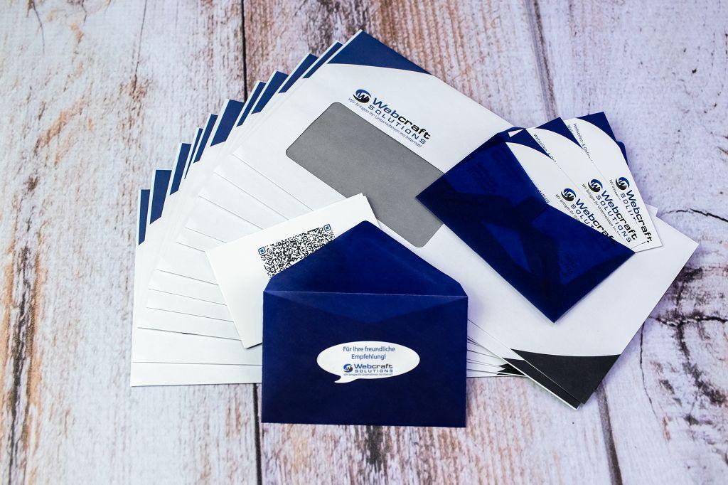 Briefumschläge, Visitenkarten und -umschläge