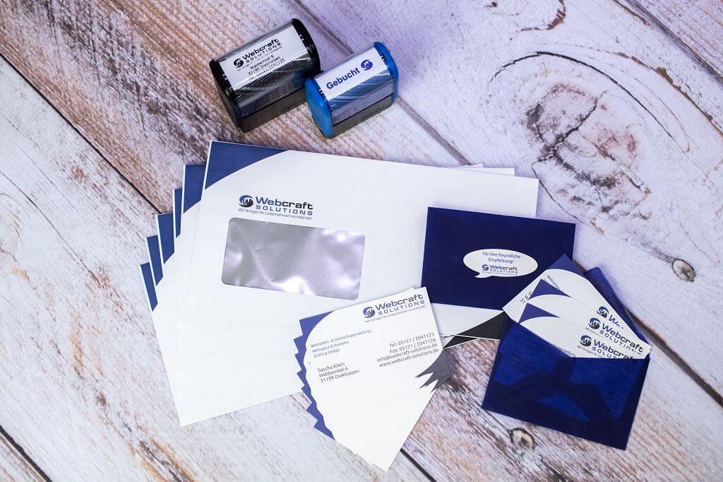 Stempel, Briefumschläge, Visitenkarten und -umschläge